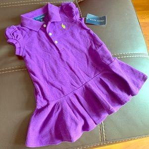 NWT! Purple Ralph Lauren Infant Polo Dress